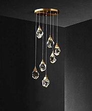 YMBLS K9 Cristal Pendentif Lampe Boule En Verre