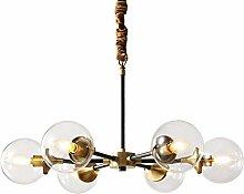 YMBLS Lampe, Diamètre 65Cm Boule de Verre Lustre