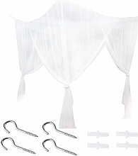 Ymiko 4 Corner Bed Canopy Curtain Post Bed Canopy