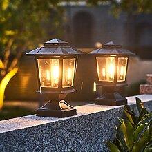 YMNLZ Lampe Pilier Exterieur Solaire Lanterne de