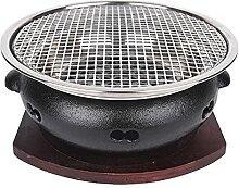 YNLRY Grilles de barbecue à charbon en fonte de