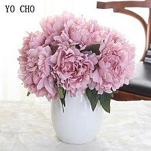 YO CHO-bouquet de pivoines et d'hortensias