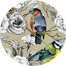 Yoliveya Horloge murale ronde silencieuse à