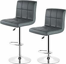 Yongqing - 2 pcs tabourets de bar chaise fauteuil
