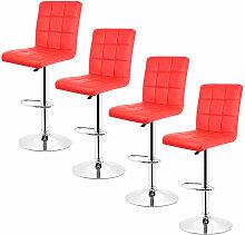 Yongqing - 4 pcs tabouret de bar chaise longue