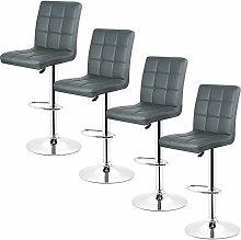 Yongqing - 4pcs *tabourets de bar chaise fauteuil
