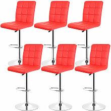 Yongqing - 6 pcs tabouret de bar chaise longue