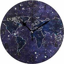 youmengying Co.,ltd Horloge Murale Art Carte du