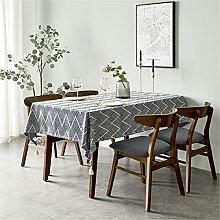 Yousiju Table de table domestique art coton et lin