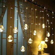 Yousir Guirlande lumineuse LED pour rideau - Boule
