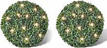 Youthup - 2 pièce de boule 35 cm avec guirlande