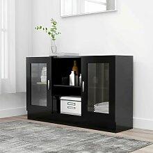 Youthup - Armoire à vitrine Noir 120x30,5x70 cm