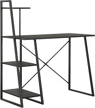 Youthup - Bureau avec étagère Noir 102x50x117 cm