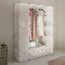 Youthup - Cabinet modulable avec 18 compartiments