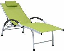 Youthup - Chaise longue Aluminium textilène Vert