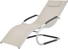Youthup - Chaise longue avec oreiller Aluminium et