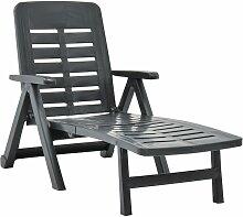 Youthup - Chaise longue pliable Plastique