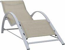 Youthup - Chaise longue Textilène et aluminium