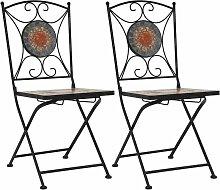 Youthup - Chaises de bistrot mosaïque 2 pcs