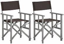Youthup - Chaises de metteur en scène 2 pcs Bois