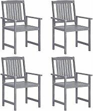 Youthup - Chaises de metteur en scène 4 pcs Bois