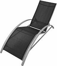 Youthup - Chaises longues en aluminium noir