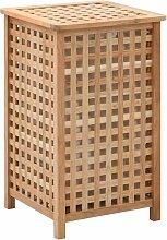 Youthup - Coffre à linge 39 x 39 x 65 cm Bois de