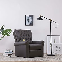 Youthup - Fauteuil inclinable de massage Gris