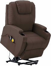 Youthup - Fauteuil inclinable de massage Marron