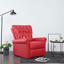 Youthup - Fauteuil inclinable de massage Rouge