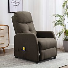Youthup - Fauteuil inclinable de massage Taupe