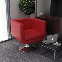 Youthup - Fauteuil pivotant Rouge Similicuir