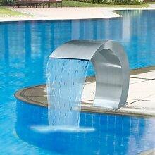 Youthup - Fontaine cascade de piscine Acier