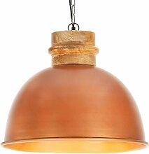 Youthup - Lampe suspendue industrielle Cuivre Rond