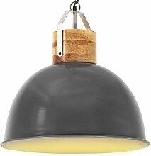 Youthup - Lampe suspendue industrielle Gris Rond