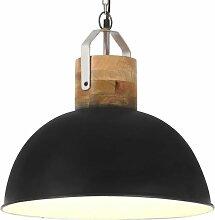 Youthup - Lampe suspendue industrielle Noir Rond