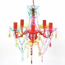 Youthup - Lustre en cristal multicolore