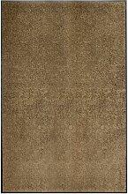 Youthup - Paillasson lavable Marron 120x180 cm