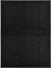 Youthup - Paillasson lavable Noir 90x120 cm