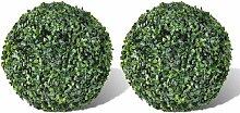 Youthup - Plante artificielle 2 pcs 27 cm