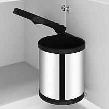 Youthup - Poubelle intégrée de cuisine Acier