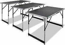 Youthup - Table à coller Table de jardin 3pcs