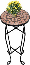 Youthup - Table d'appoint mosaïque Terre cuite