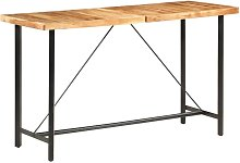 Youthup - Table de bar 180x70x107 cm Bois solide