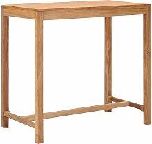 Youthup - Table de bar de jardin 110x60x105 cm