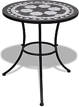 Youthup - Table de bistro Noir et blanc 60 cm
