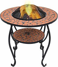 Youthup - Table de foyer mosaïque Terre cuite 68