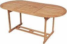 Youthup - Table de jardin 180x90x75 cm Bois de