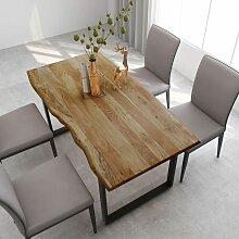 Youthup - Table de salle à manger 160x80x76 cm
