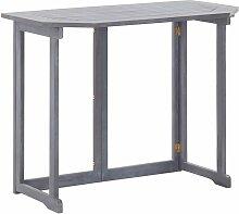 Youthup - Table pliable de balcon 90x50x74 cm Bois